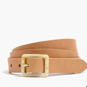 Madewell Acetate Buckle Leather Belt AL544